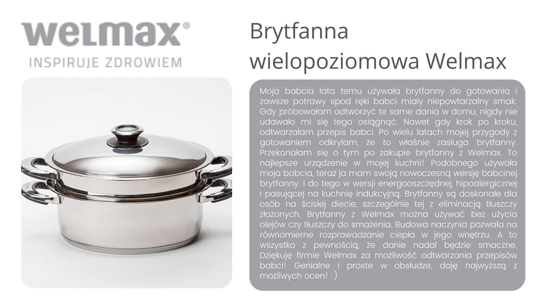 Brytfana Welmax opinie