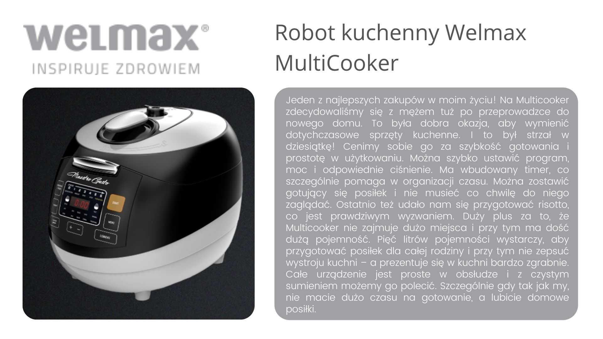 Multicooker Welmax opinie
