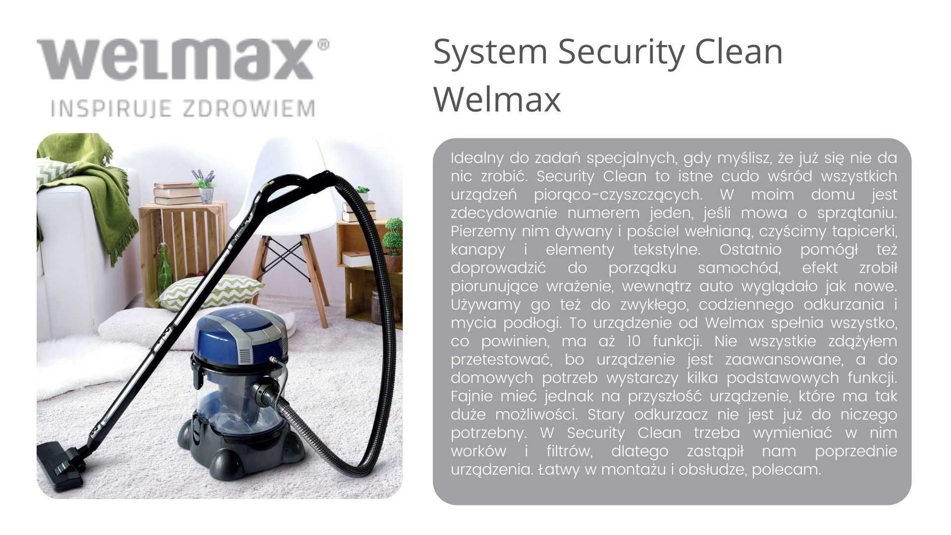 Security clean Welmax opinie 1