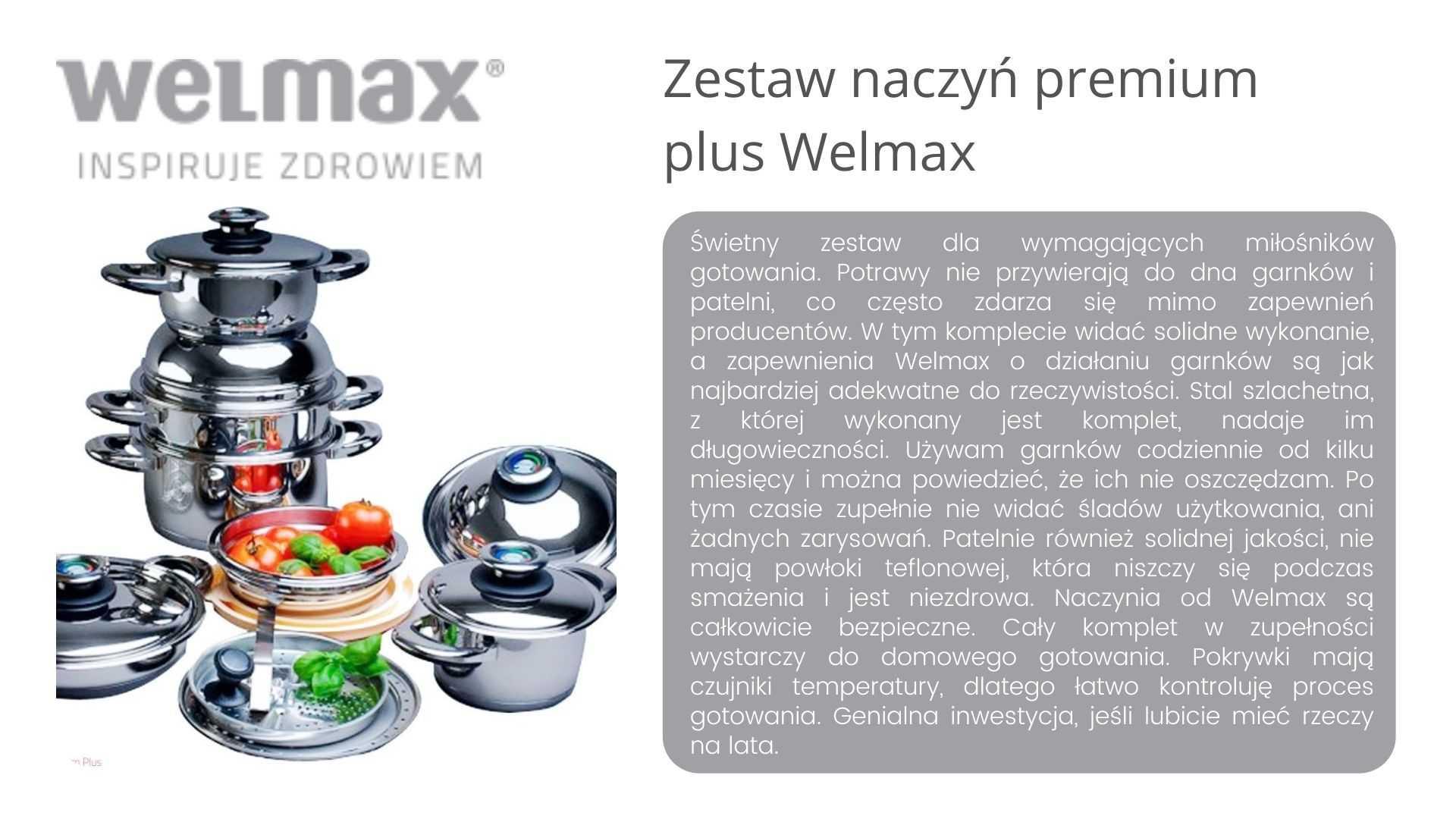 Zestaw naczyń Welmax opinie