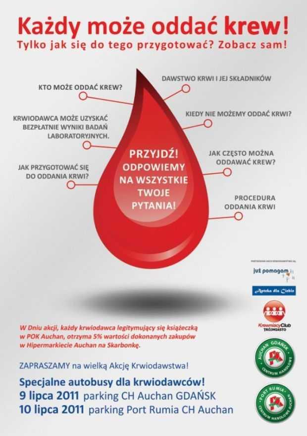 każdy może oddać krew