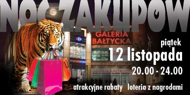 galeria bałtycka gdańsk noc zakupów