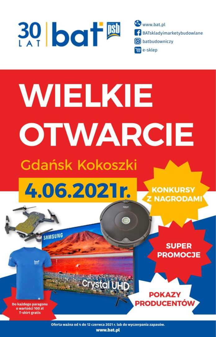 gazetka promocyjna wielkie otwarcie bat gdansk kokoszki 1
