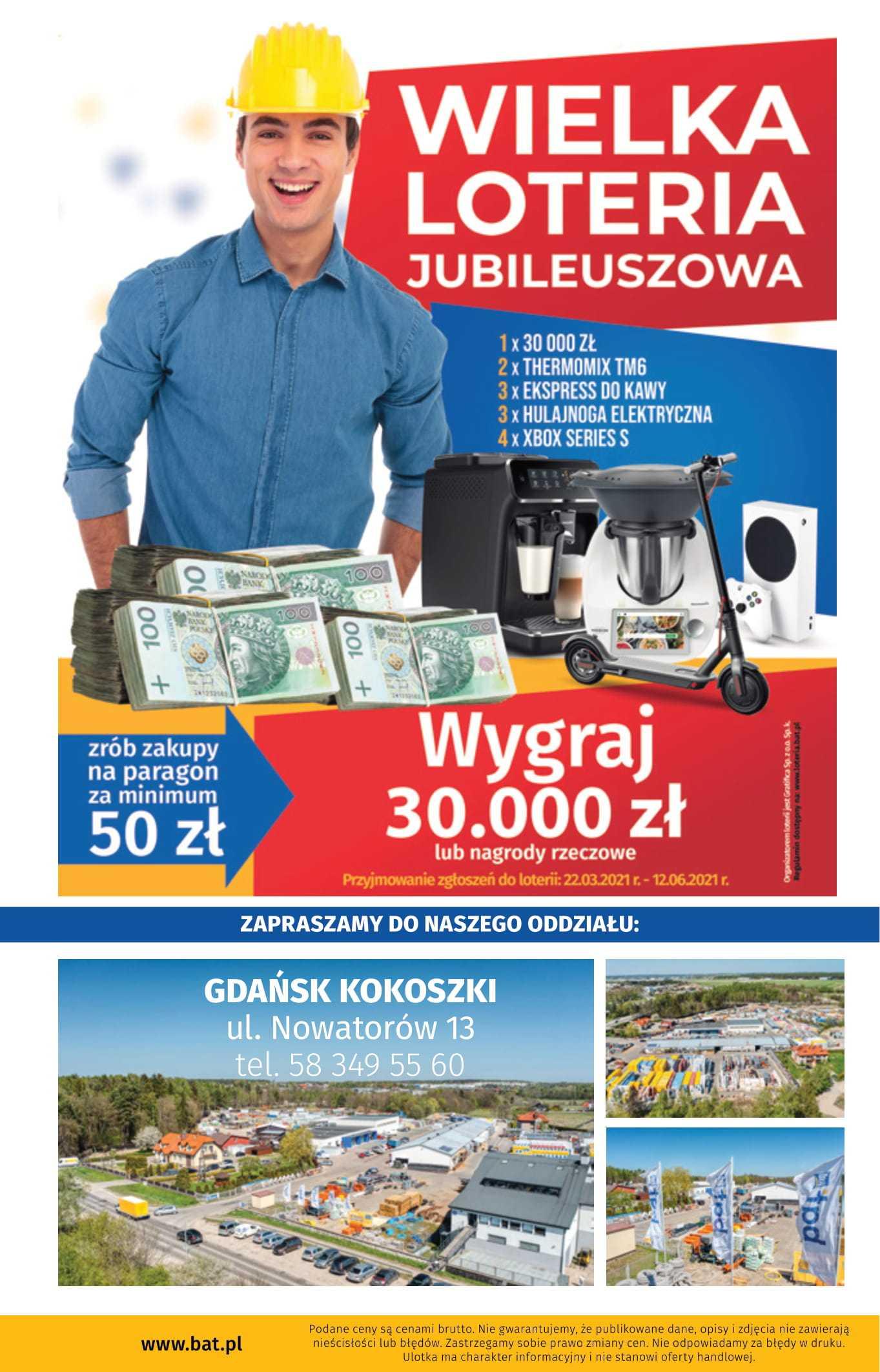 gazetka promocyjna wielkie otwarcie bat gdansk kokoszki 8