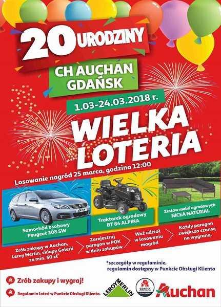 loteria jubileuszowa auchan gdansk