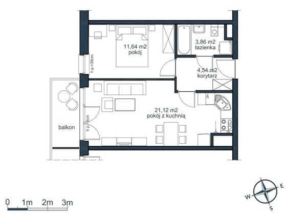 mieszkania 2 pokojowe słoneczna zatoka gdynia witomino (5)