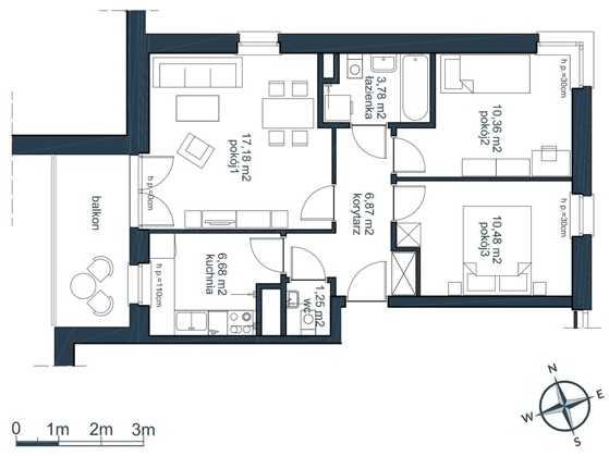mieszkania 3 pokojowe słoneczna zatoka gdynia witomino (4)