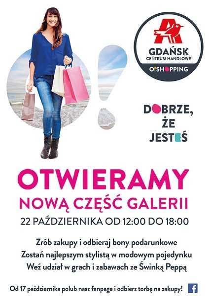 otwarcie nowej czesci auchan gdansk